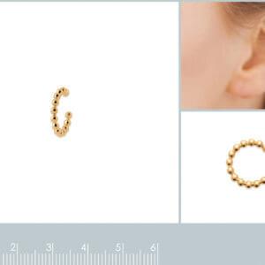 Bague d'oreille tout en plaqué or