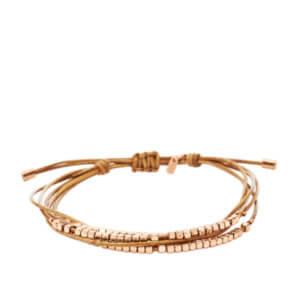Bracelet Fossil Femme Cordons et facette